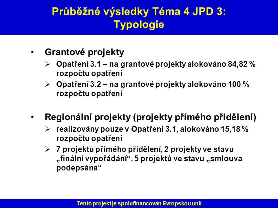 Průběžné výsledky Téma 4 JPD 3: Typologie
