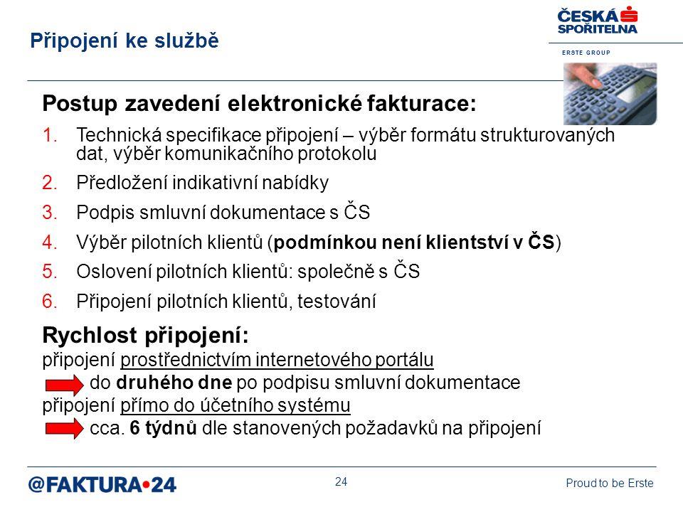 Postup zavedení elektronické fakturace: