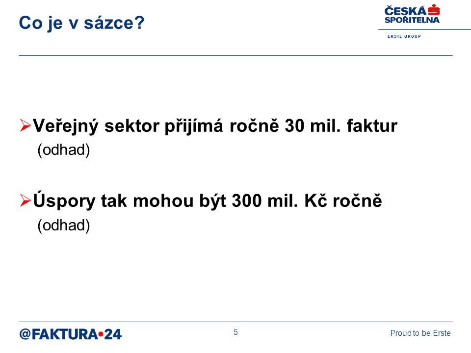 Veřejný sektor přijímá ročně 30 mil. faktur
