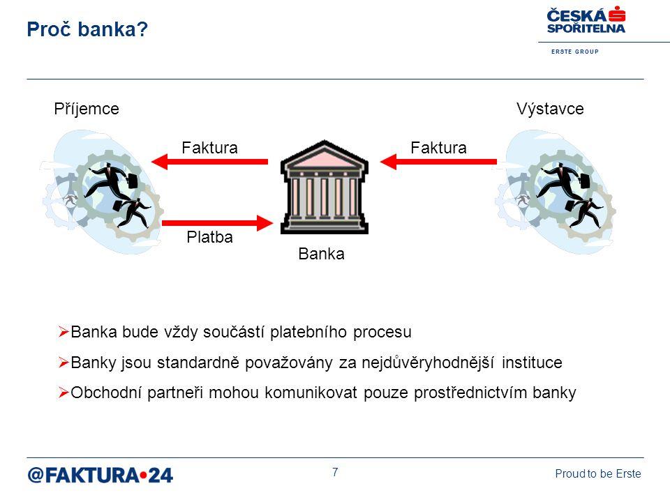 Proč banka Příjemce Výstavce Faktura Faktura Platba Banka