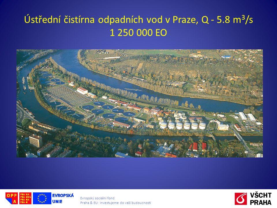 Ústřední čistírna odpadních vod v Praze, Q - 5.8 m3/s 1 250 000 EO