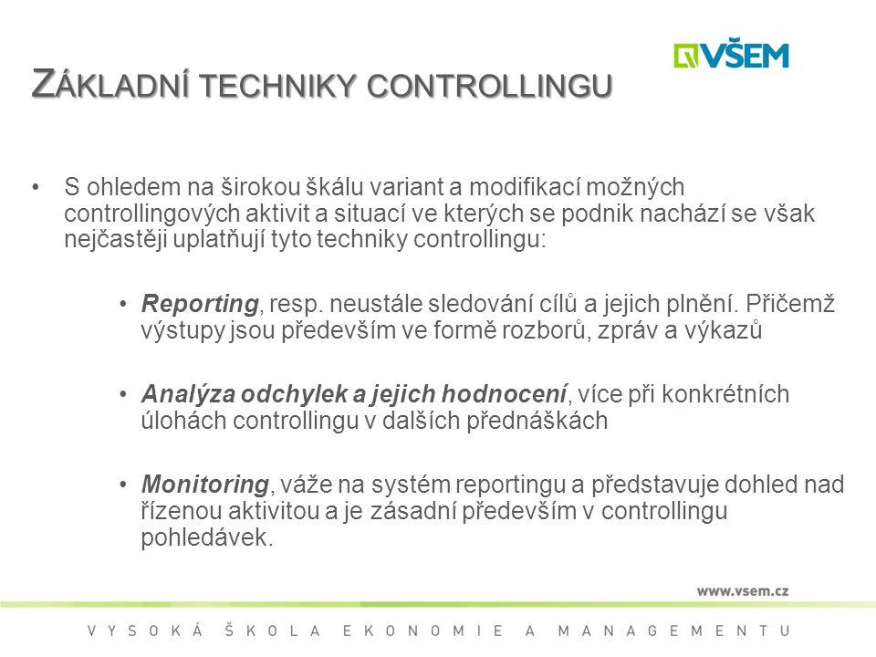 Základní techniky controllingu
