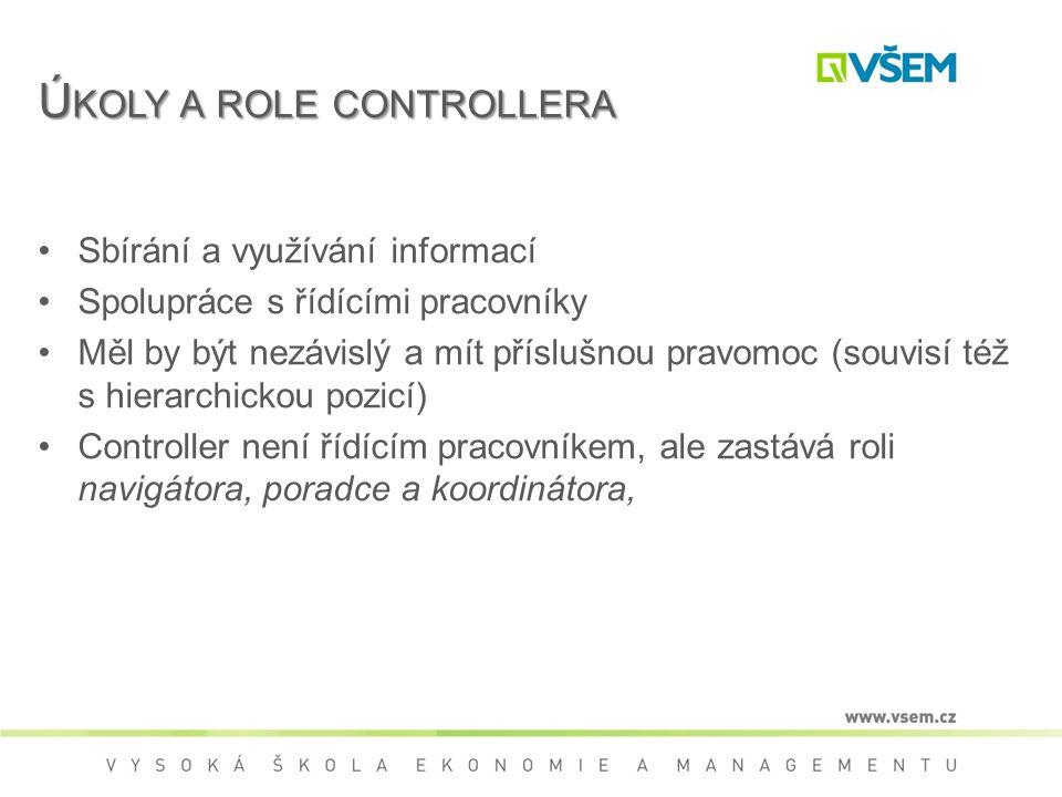 Úkoly a role controllera