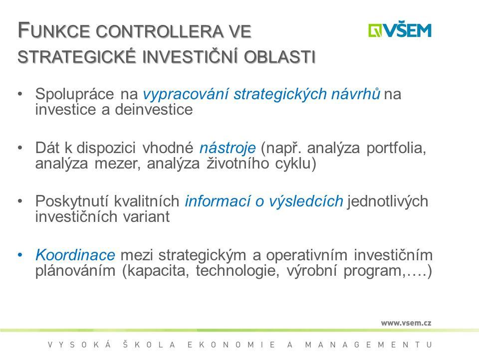 Funkce controllera ve strategické investiční oblasti