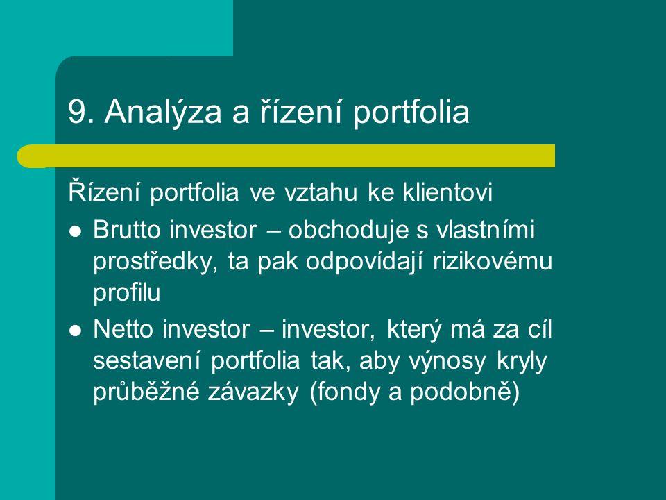 9. Analýza a řízení portfolia
