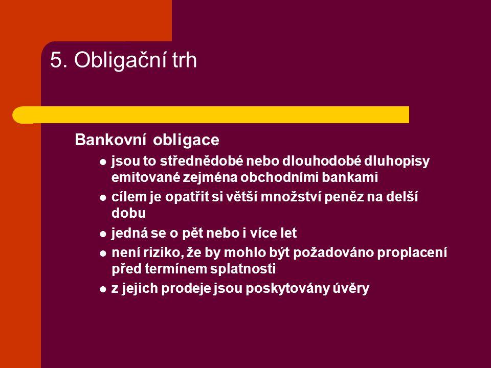 5. Obligační trh Bankovní obligace