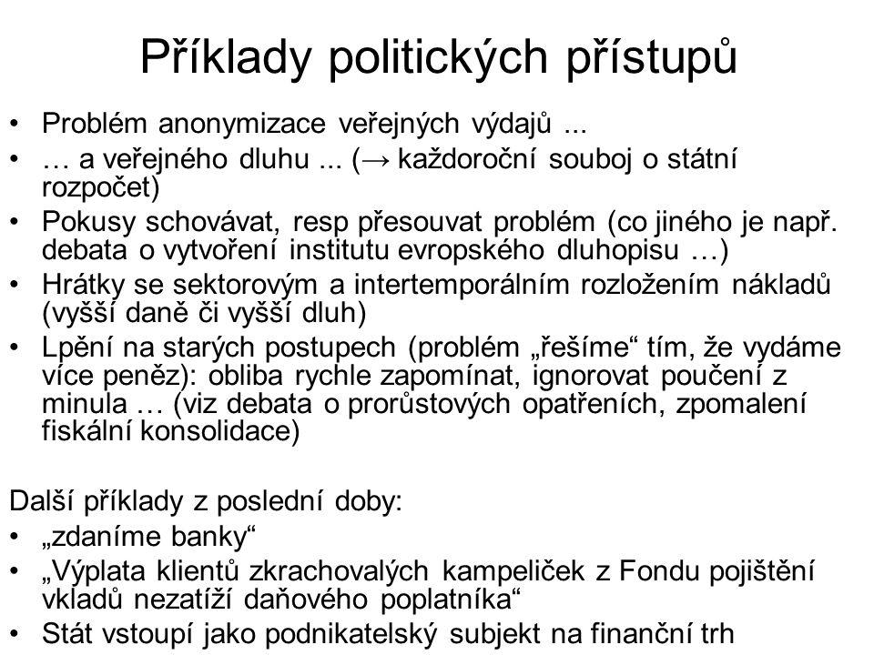 Příklady politických přístupů