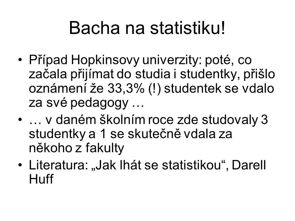 Bacha na statistiku!
