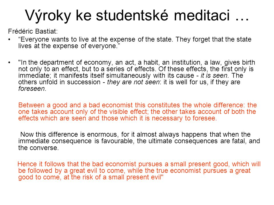 Výroky ke studentské meditaci …