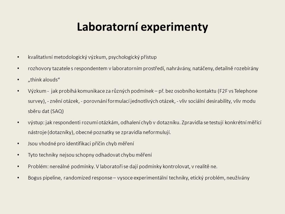 Laboratorní experimenty