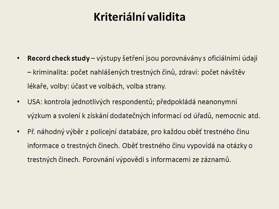 Kriteriální validita