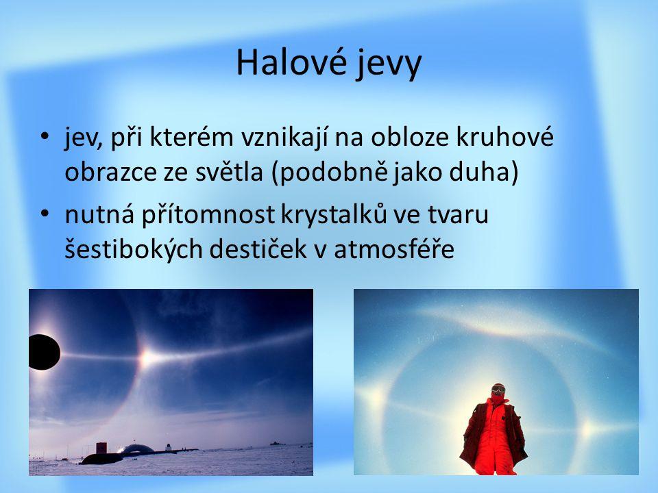 Halové jevy jev, při kterém vznikají na obloze kruhové obrazce ze světla (podobně jako duha)