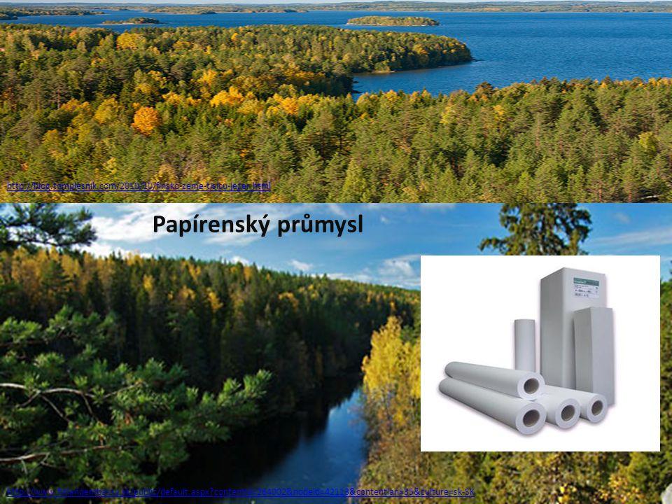 http://blog.tomplesnik.com/2010/10/finsko-zeme-tisicu-jezer.html Papírenský průmysl.