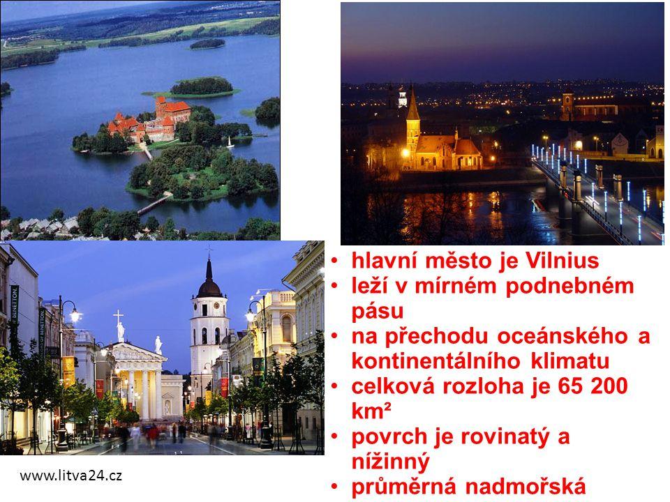 hlavní město je Vilnius leží v mírném podnebném pásu