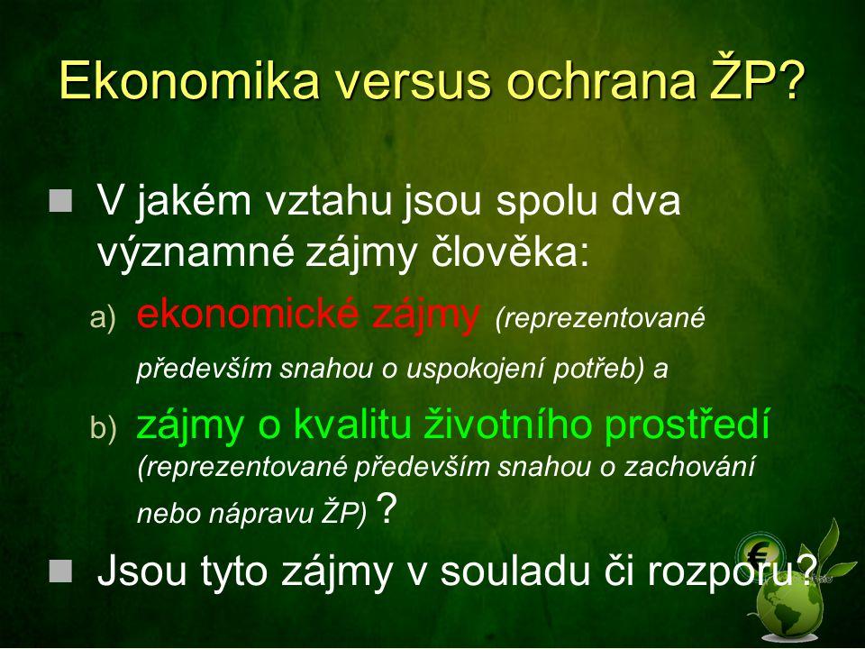 Ekonomika versus ochrana ŽP