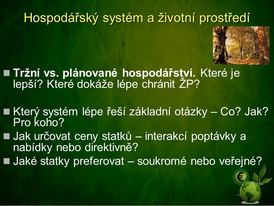 Hospodářský systém a životní prostředí