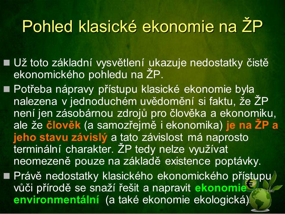 Pohled klasické ekonomie na ŽP
