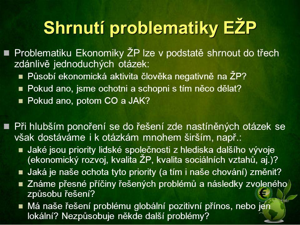 Shrnutí problematiky EŽP