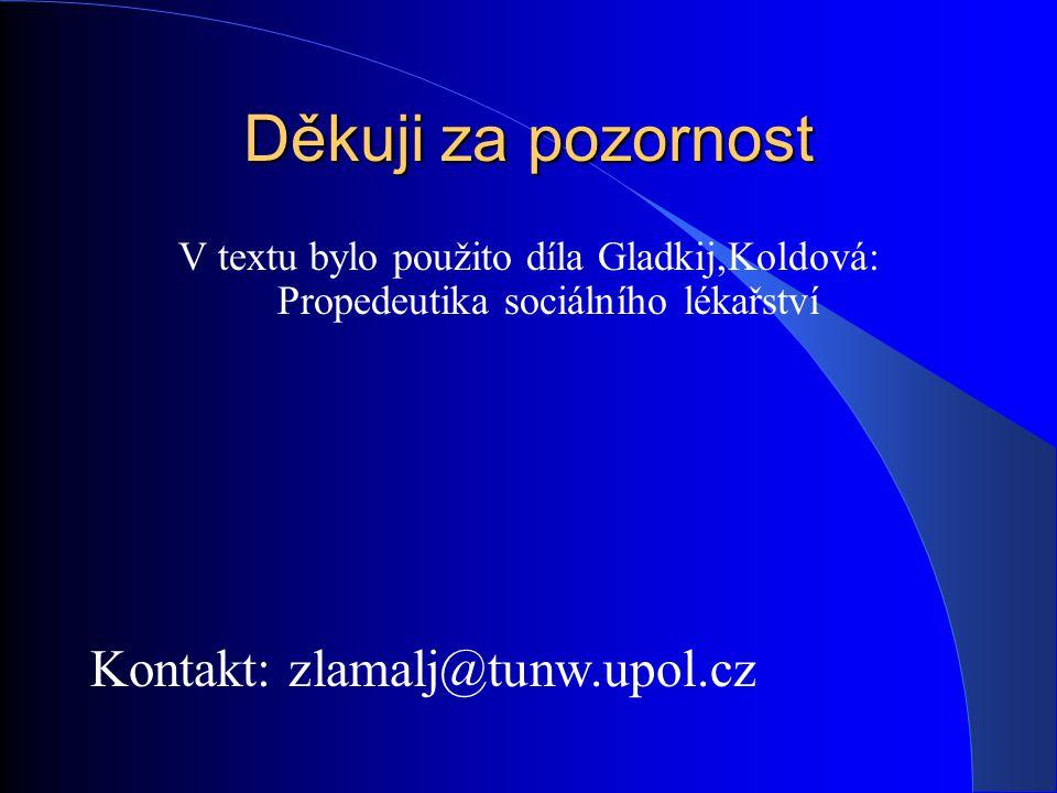 Děkuji za pozornost Kontakt: zlamalj@tunw.upol.cz