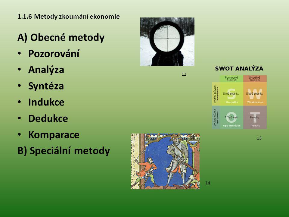 1.1.6 Metody zkoumání ekonomie