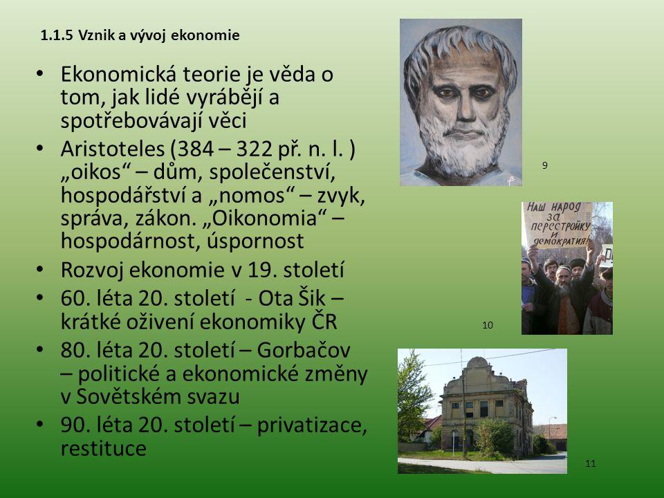 Rozvoj ekonomie v 19. století