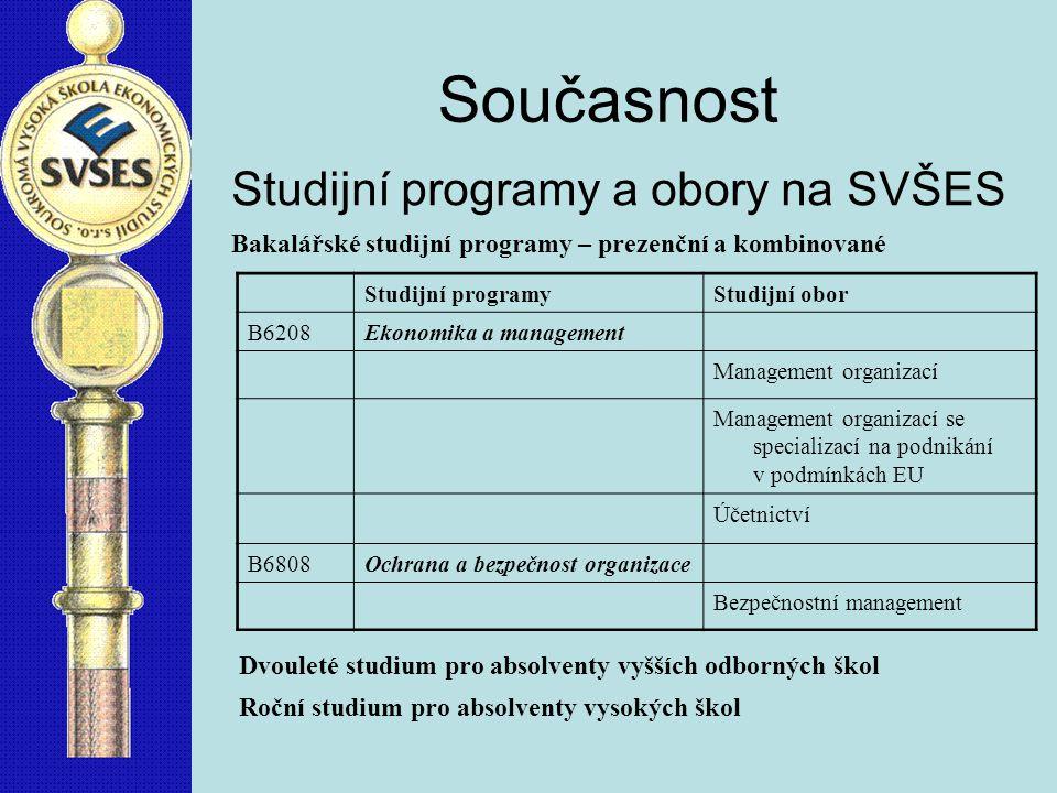 Současnost Studijní programy a obory na SVŠES