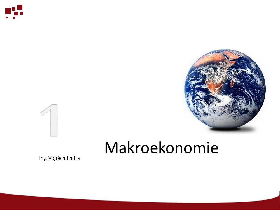 1 Makroekonomie Ing. Vojtěch Jindra
