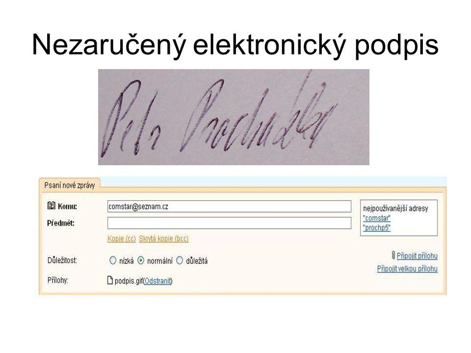 Nezaručený elektronický podpis