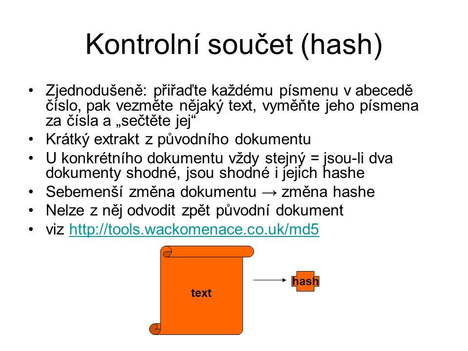 Kontrolní součet (hash)