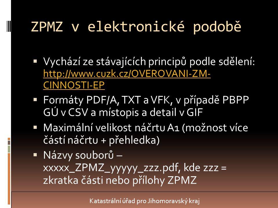 ZPMZ v elektronické podobě