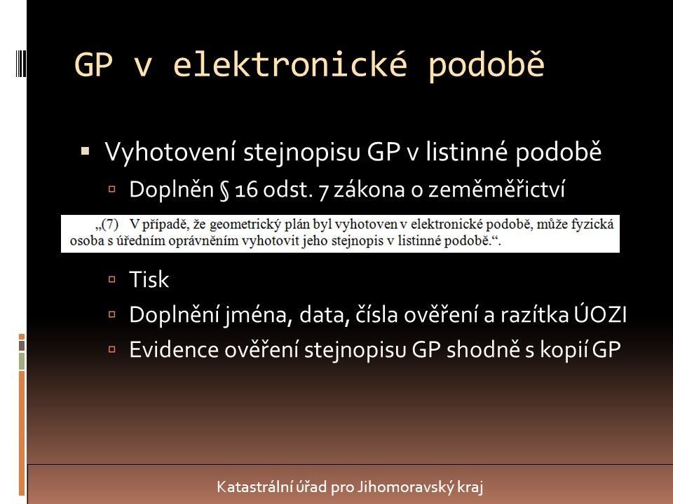 GP v elektronické podobě