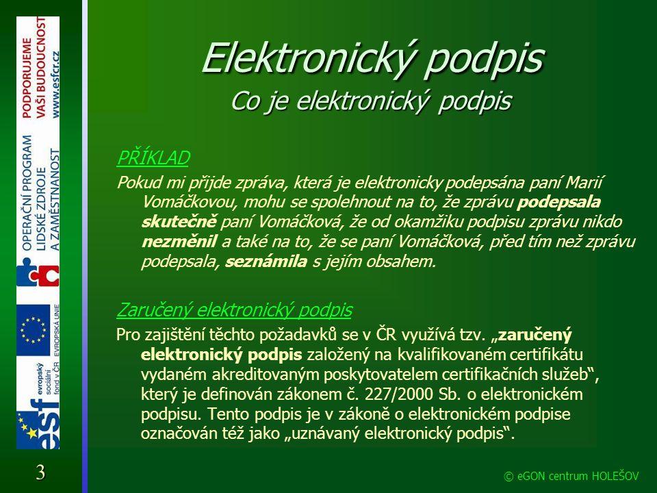 Elektronický podpis Co je elektronický podpis