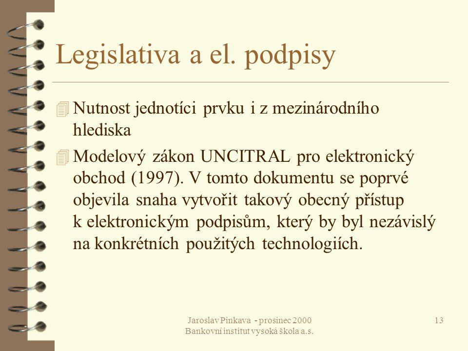 Legislativa a el. podpisy
