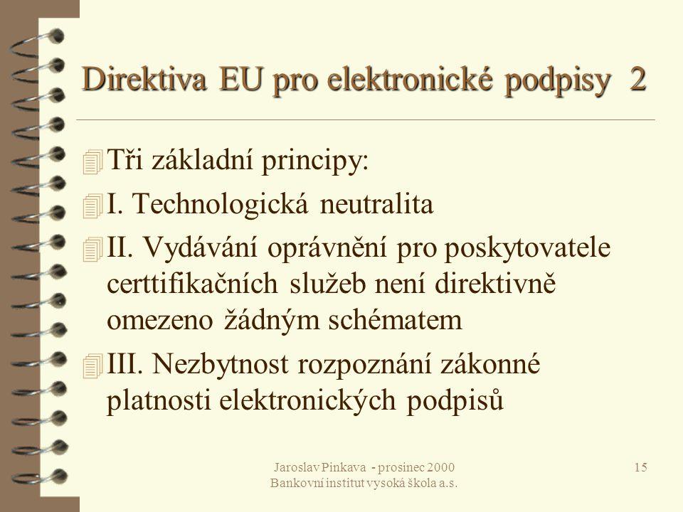 Direktiva EU pro elektronické podpisy 2