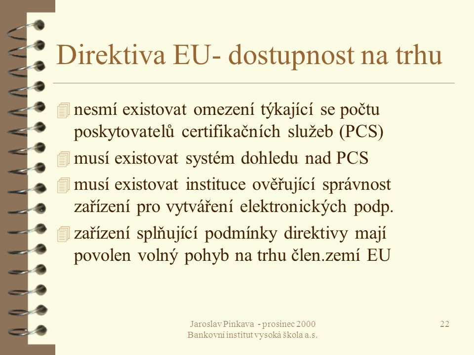 Direktiva EU- dostupnost na trhu