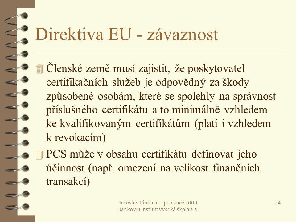 Direktiva EU - závaznost