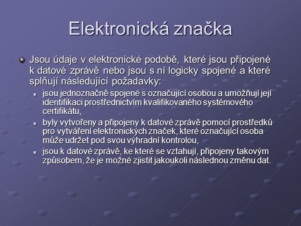 Elektronická značka