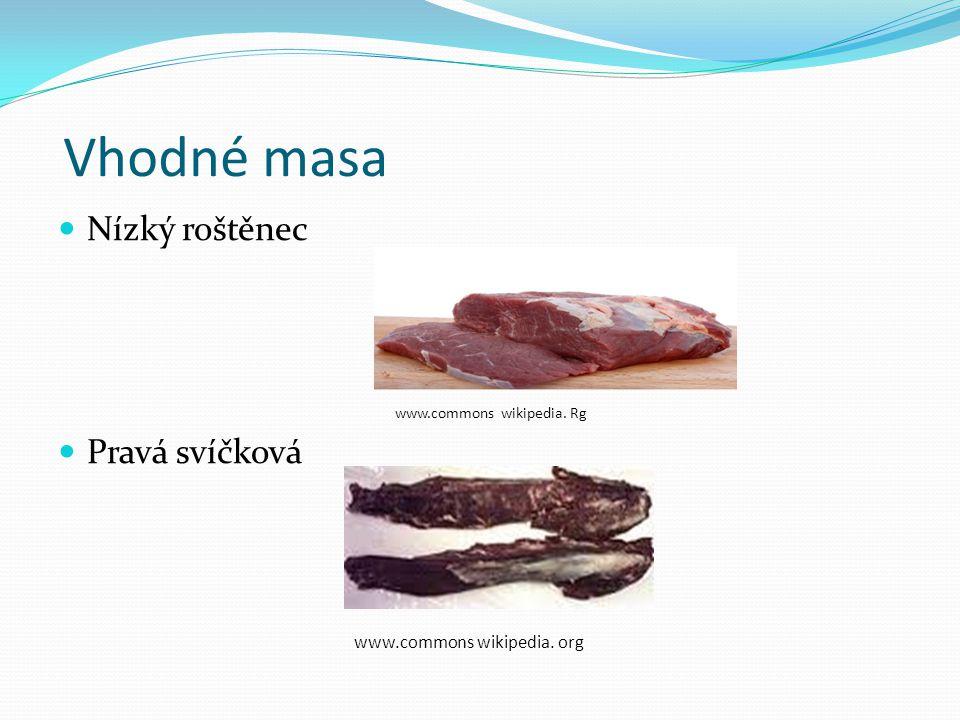 Vhodné masa Nízký roštěnec Pravá svíčková www.commons wikipedia. org