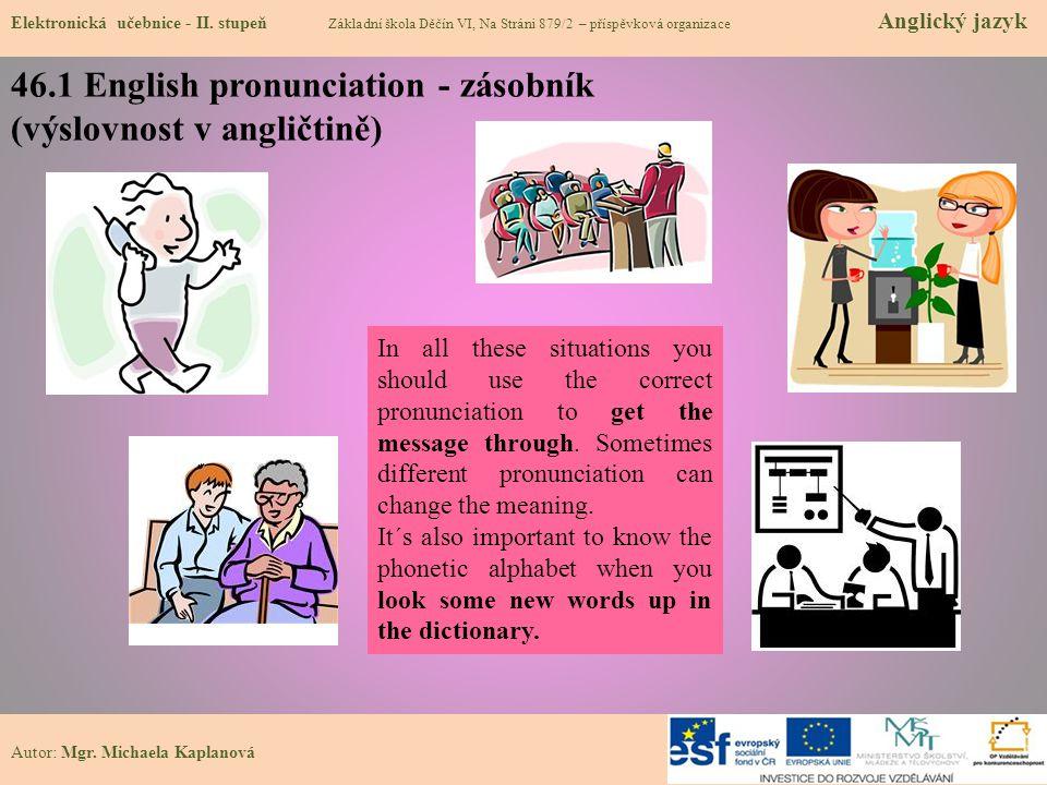 46.1 English pronunciation - zásobník (výslovnost v angličtině)