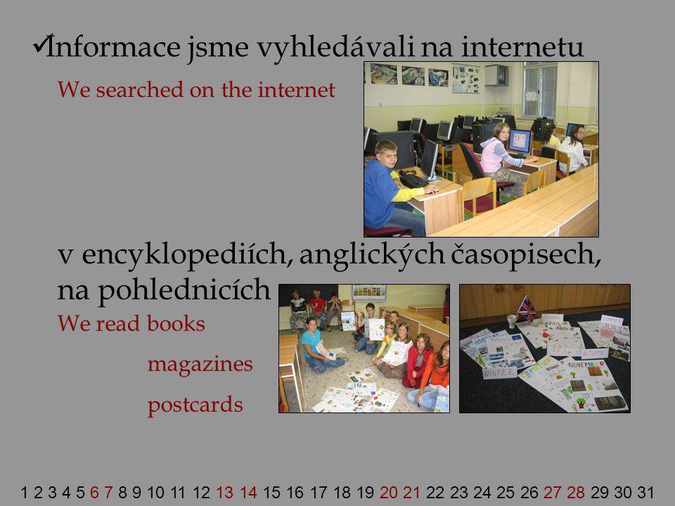 Informace jsme vyhledávali na internetu