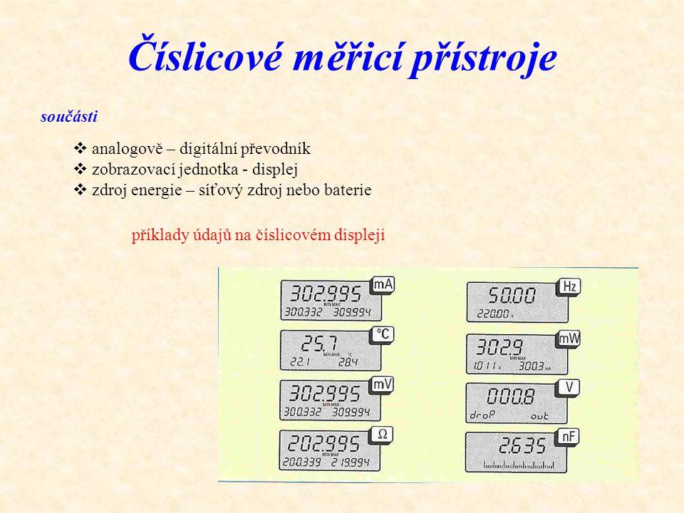 Číslicové měřicí přístroje