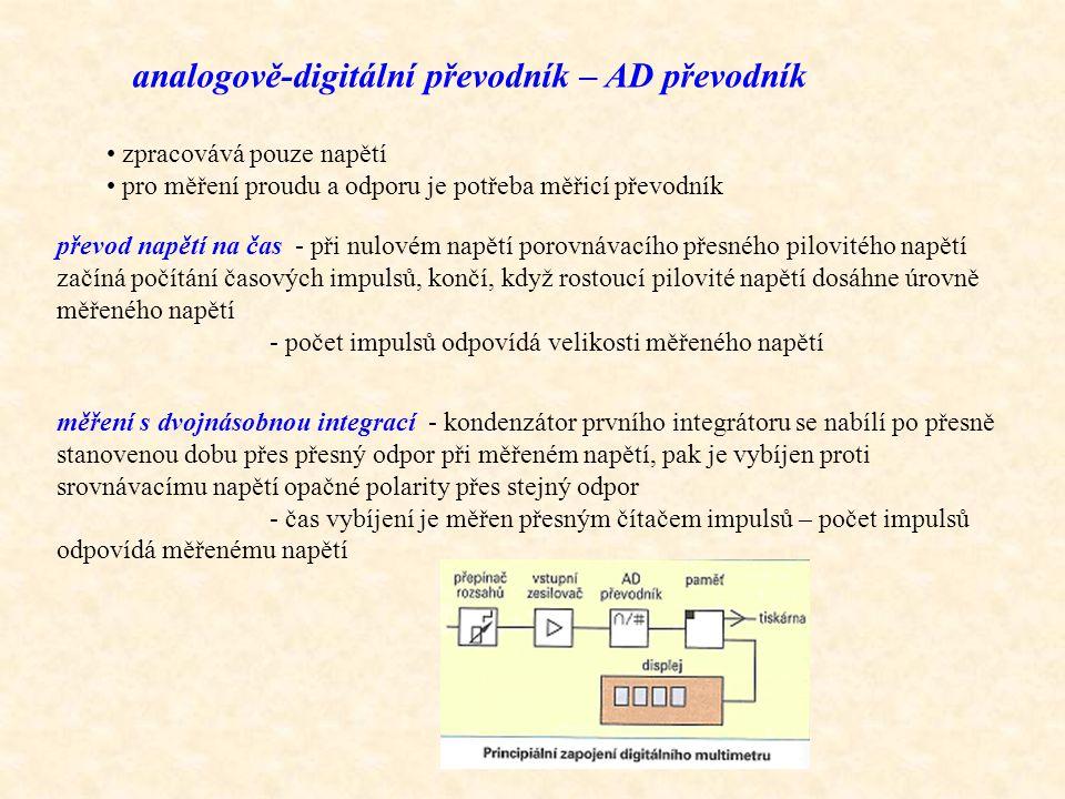 analogově-digitální převodník – AD převodník