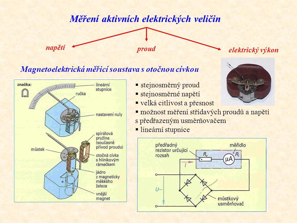 Měření aktivních elektrických veličin