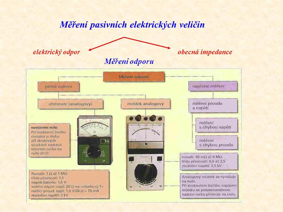 Měření pasivních elektrických veličin