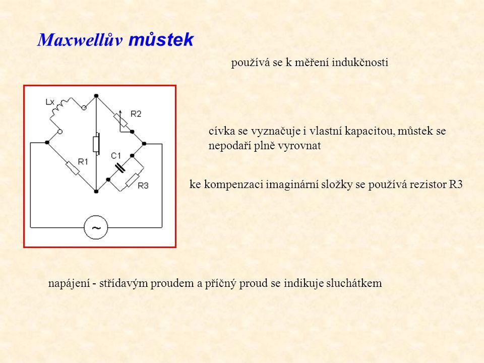 Maxwellův můstek používá se k měření indukčnosti