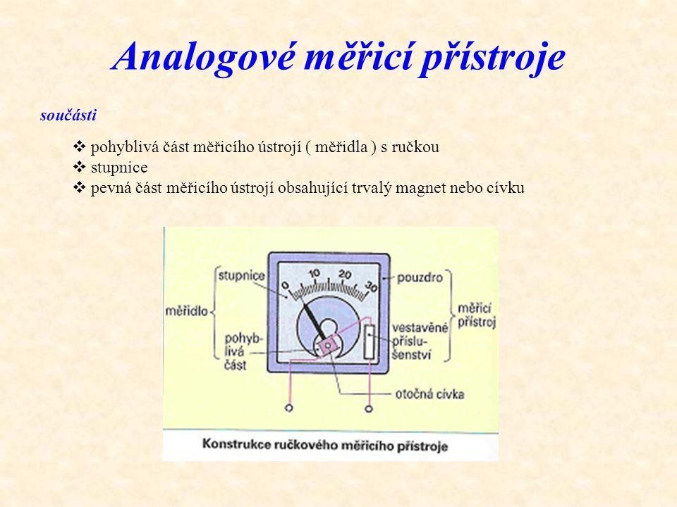 Analogové měřicí přístroje