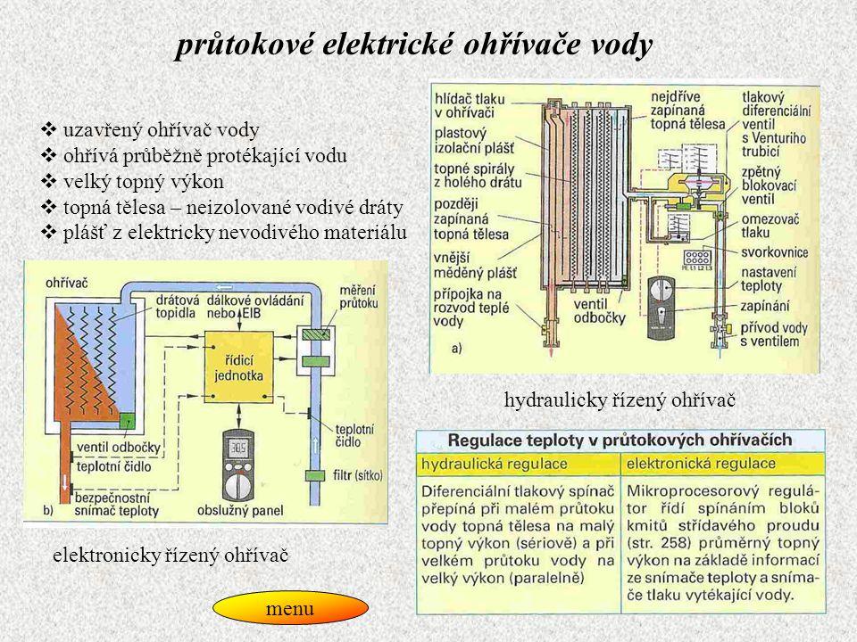 průtokové elektrické ohřívače vody