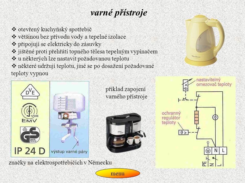 varné přístroje otevřený kuchyňský spotřebič