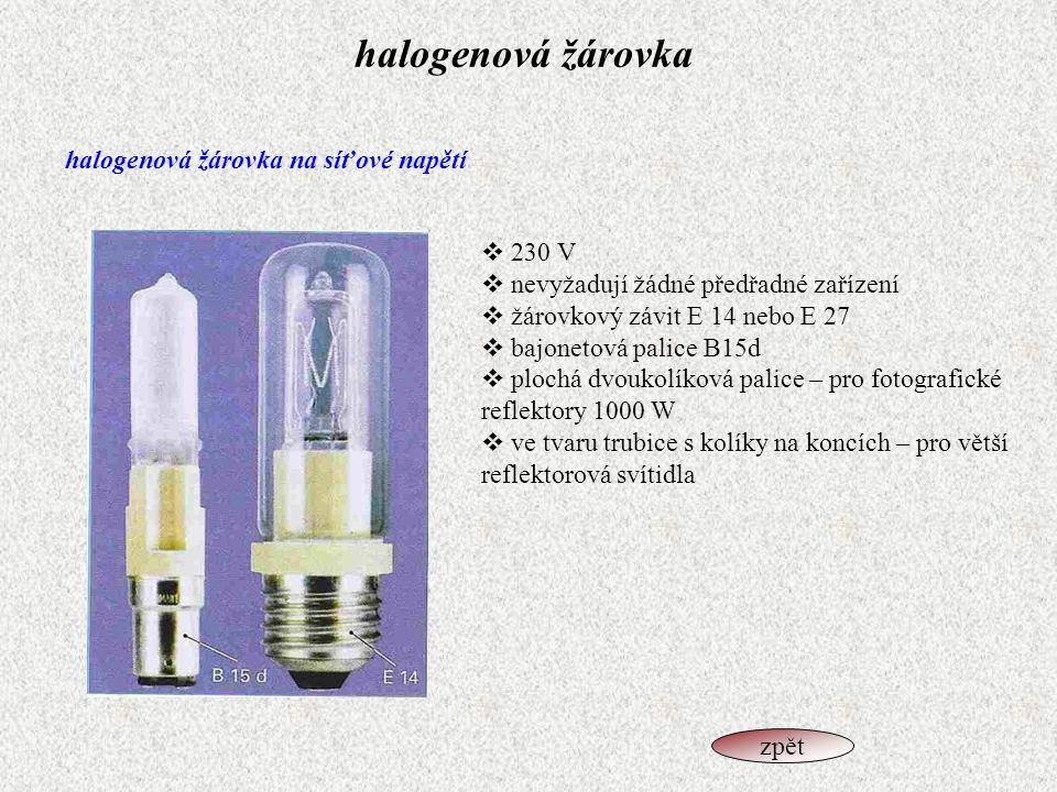 halogenová žárovka halogenová žárovka na síťové napětí 230 V