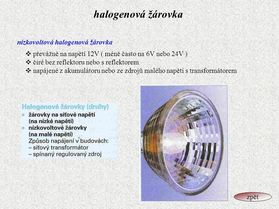 halogenová žárovka nízkovoltová halogenová žárovka